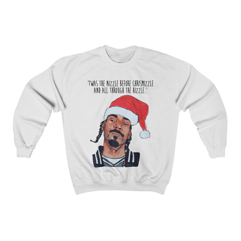 Snoop Dogg Ugly Christmas Sweater - Twas the nizzle before chrismizzle and all through the hizzle t shirt,sweatshirt, hoodie-dogg christmas-Snoop Dogg tee
