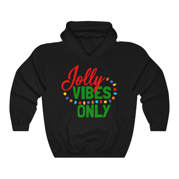 Jolly Vibes Only Christmas Lights Unisex Heavy Blend™ Hooded Sweatshirt