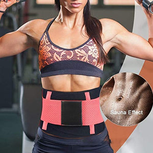 Slimming Body Shaper Band with Dual Adjustable Belly for Fitness Workout, Unisex(Small,Pink)