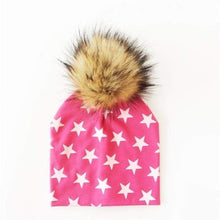 Load image into Gallery viewer, Babies bobble hat with furry bobble choice of colours and sizes - J and p hats Babies bobble hat with furry bobble choice of colours and sizes