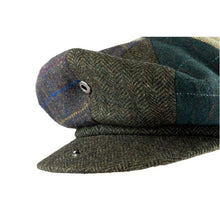 Load image into Gallery viewer, Wool Blend Baker Boy Cap  Patchwork- Peaky Blinders Style - J and p hats