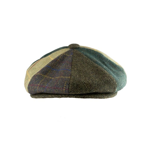 Wool Blend Baker Boy Cap  Patchwork- Peaky Blinders Style - J and p hats
