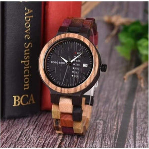 BOBO BIRD Bamboo Wooden Lover Couple Watch men's and ladies in wooden gift box - J and p hats BOBO BIRD Bamboo Wooden Lover Couple Watch men's and ladies in wooden gift box
