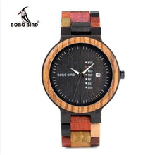 Load image into Gallery viewer, BOBO BIRD Bamboo Wooden Lover Couple Watch men's and ladies in wooden gift box - J and p hats BOBO BIRD Bamboo Wooden Lover Couple Watch men's and ladies in wooden gift box