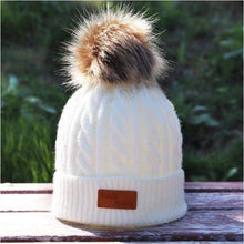 Load image into Gallery viewer, Children's winter knitted hats heavy knit with or without bobble great choice of colours - J and p hats Children's winter knitted hats heavy knit with or without bobble great choice of colours