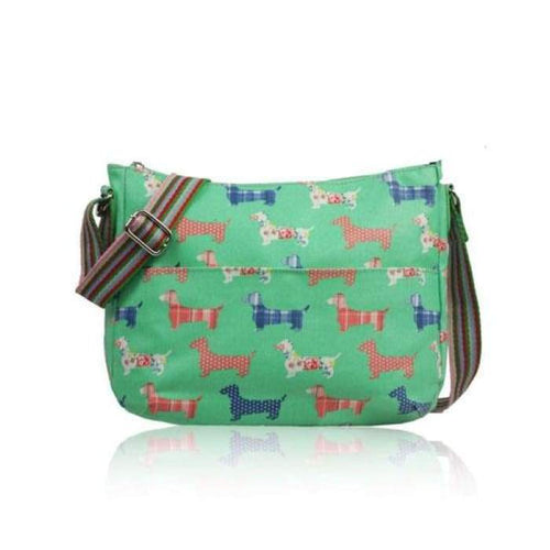 Dachshund Crossbody Shoulder Bag Ladies Green or blue Sausage Dogs Crossbody Bag - J and p hats Dachshund Crossbody Shoulder Bag Ladies Green or blue Sausage Dogs Crossbody Bag