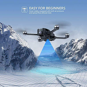 Drone with UHD Camera for Adults, Easy GPS Quadcopter for Beginner &Anti-shake Cam - J and p hats Drone with UHD Camera for Adults, Easy GPS Quadcopter for Beginner &Anti-shake Cam