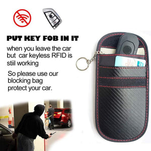 Faraday Car Key Signal Blocker Case Fob Pouch Keyless RFID Blocking Bag - J and p hats Faraday Car Key Signal Blocker Case Fob Pouch Keyless RFID Blocking Bag