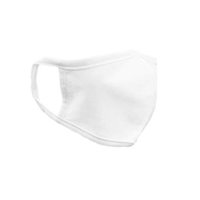 FM London Accessories Reusable Fabric Face Mask, White, One Size (Pack of 50) - J and p hats FM London Accessories Reusable Fabric Face Mask, White, One Size (Pack of 50)