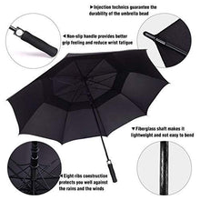 Load image into Gallery viewer, Golf Umbrella Windproof Large 62 Inch, Automatic Open, - J and p hats Golf Umbrella Windproof Large 62 Inch, Automatic Open,