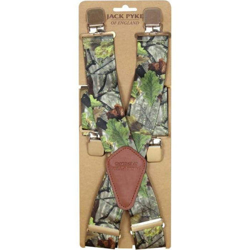 Jack Pyke Camouflage Elasticated Braces - J and p hats Jack Pyke Camouflage Elasticated Braces