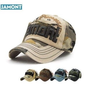 JAMONT Cammo Style Baseball Cap One Size Fits All - J and p hats JAMONT Cammo Style Baseball Cap One Size Fits All