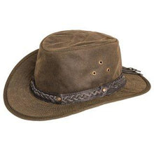 Load image into Gallery viewer, Men's Wax Hat -wide brim Aussie Style Bush Hat - J and p hats Men's Wax Hat -wide brim Aussie Style Bush Hat