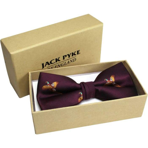 Pheasant Bow Tie In Gift Box - J and p hats Pheasant Bow Tie In Gift Box