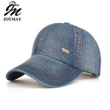 Load image into Gallery viewer, Plain Denim Baseball Cap Unisex One Size Fits All - J and p hats Plain Denim Baseball Cap Unisex One Size Fits All
