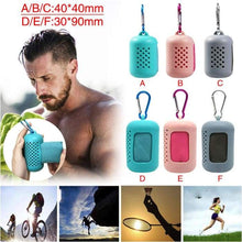 Load image into Gallery viewer, Travel foldable mini towel ideal for sports or dog walking - J and p hats Travel foldable mini towel ideal for sports or dog walking