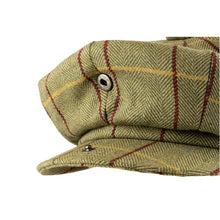 Load image into Gallery viewer, Wool Blend Baker Boy Cap  Green Tweed - Peaky Blinders Style - J and p hats