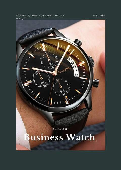 Stainless Steel Sport Analog Quartz Wrist Watch mens lovely Business or Dress Watch