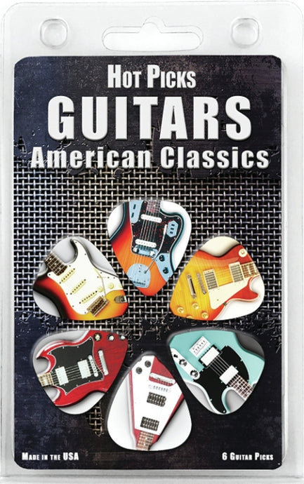Hotpicks American Classic Guitars 6 Pack 1GTRCS01