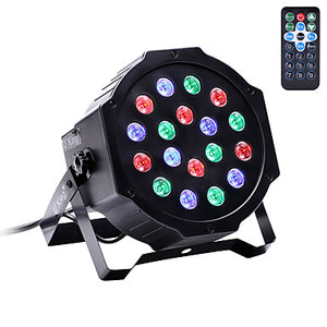 U'King LED Stage Light / Spot Light LED Par Lights DMX 512 Master-Slave Sound-Activated Auto for Club Wedding Stage Party Professional
