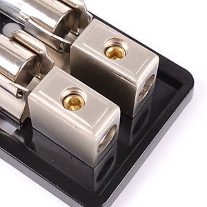 2-Way/2X AGU In-Line Fuse Holder Distribution Block 60A