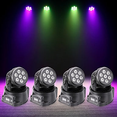 U'King 4pcs LED Stage Light / Spot Light DMX 512 / Master-Slave / Sound-Activated 70 W for Outdoor / Party / Stage Professional