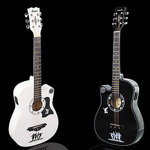 Professional Guitar 38 Inch Guitar Wood Colorful / for Beginner Musical Instrument Accessories