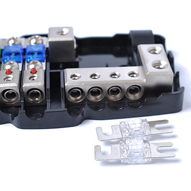 multi-functional led car audio stereo mini anl fuse box with 4 way fuse  block