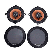 "Load image into Gallery viewer, 5"" Dia 2 Pcs 200 Watts Power 80Hz-20KHz 4 Ohms 2-Way Automobile Car Audio System Coaxial Speakers"