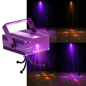U'King Laser Stage Light DMX 512 Master-Slave Sound-Activated Remote Control 12 for Club Wedding Stage Party Outdoor Professional High