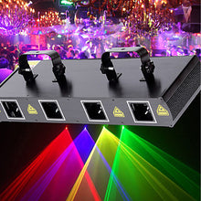 Load image into Gallery viewer, U'King Laser Stage Light 7 DMX 512 Master-Slave Sound-Activated Auto Remote Control 30 for Club Wedding Stage Party Outdoor Professional