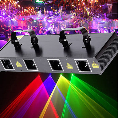 U'King Laser Stage Light 7 DMX 512 Master-Slave Sound-Activated Auto Remote Control 30 for Club Wedding Stage Party Outdoor Professional