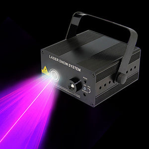 U'King Laser Stage Light DMX 512 Master-Slave Sound-Activated 9 for Club Wedding Stage Party Outdoor Professional High Quality