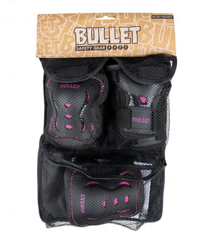 Bullet Triple Blast V2 Black/Pink Padset - Junior 3-6 years XXS