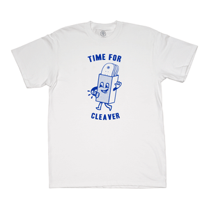 Cleaver Time For T-shirt - White
