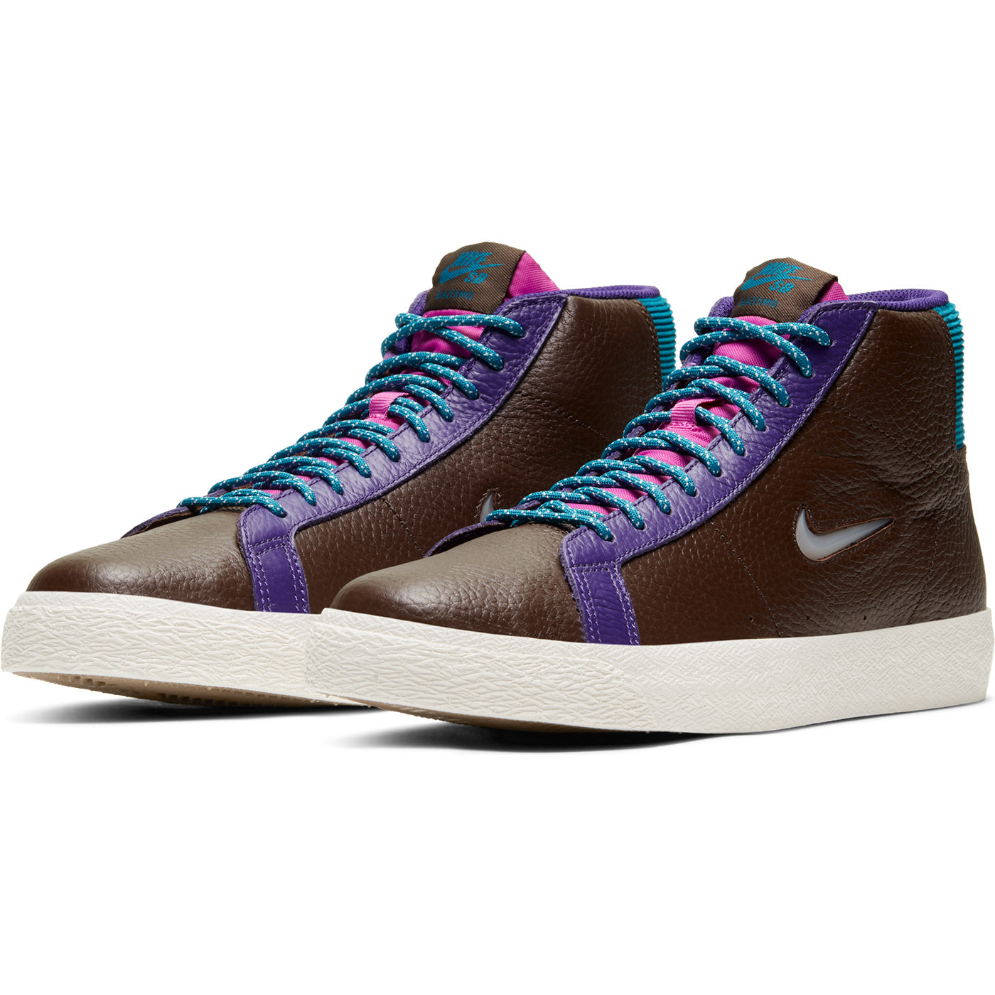 Nike SB Blazer Mid Premium Shoes - Baroque Brown/White Green-Abyss