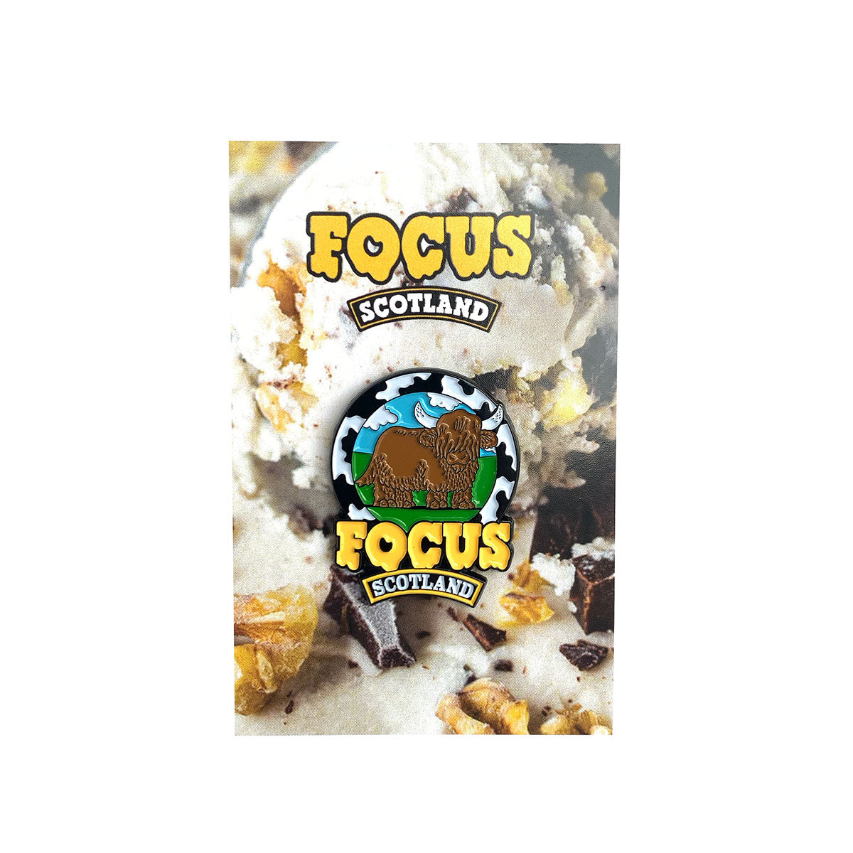 Focus Melted Coo Enamel Badge