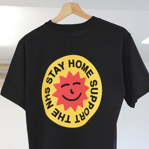 Focus Stay Home Support The NHS Fundraiser Kids T-shirt - Black