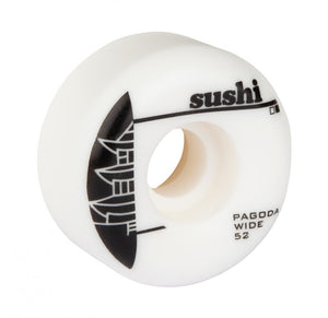 Sushi Pagoda Wide Skateboard Wheels Black - 52mm
