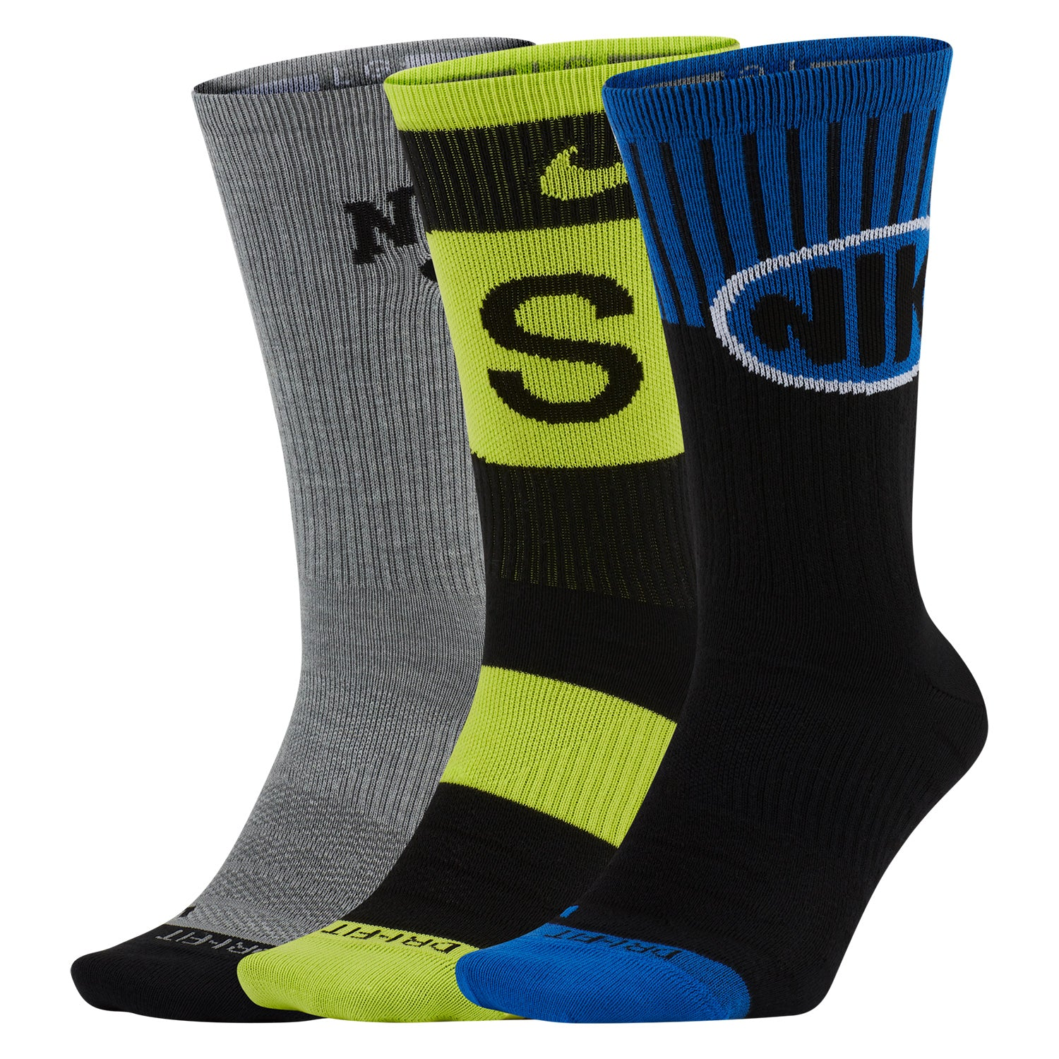 Nike SB Everyday Max Lightweight Crew 3 pack Socks - Multi Colour