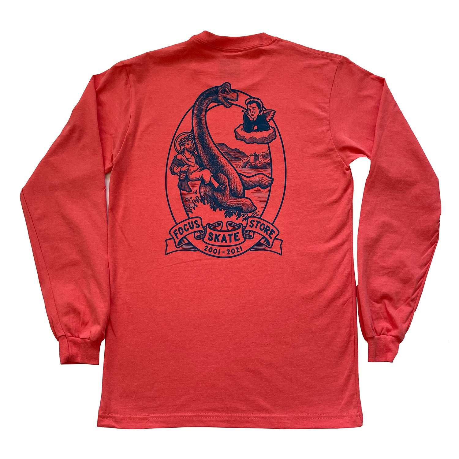 Focus XX Anniversary Long Sleeve T-shirt - Coral
