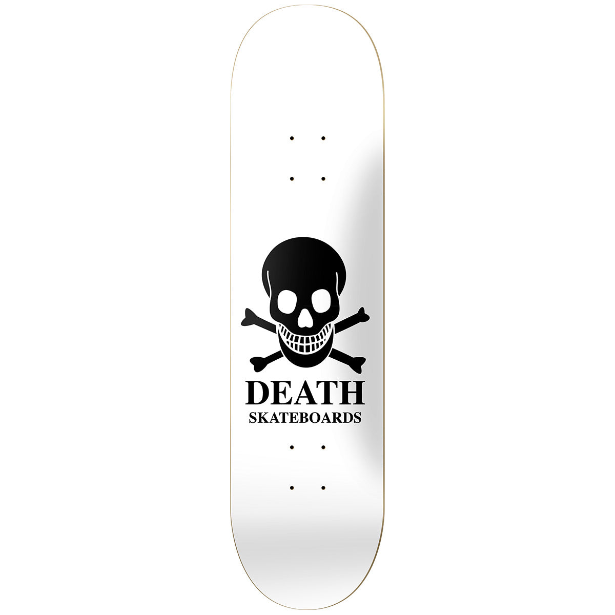 Death OG Skull Deck White - 8.25""