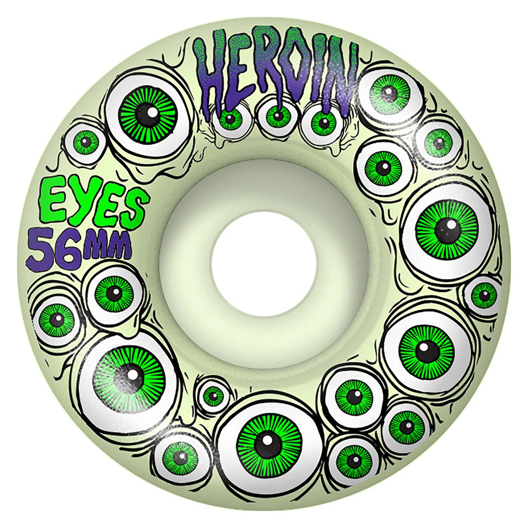 Heroin Eyes Glow In The Dark Wheels - 56mm