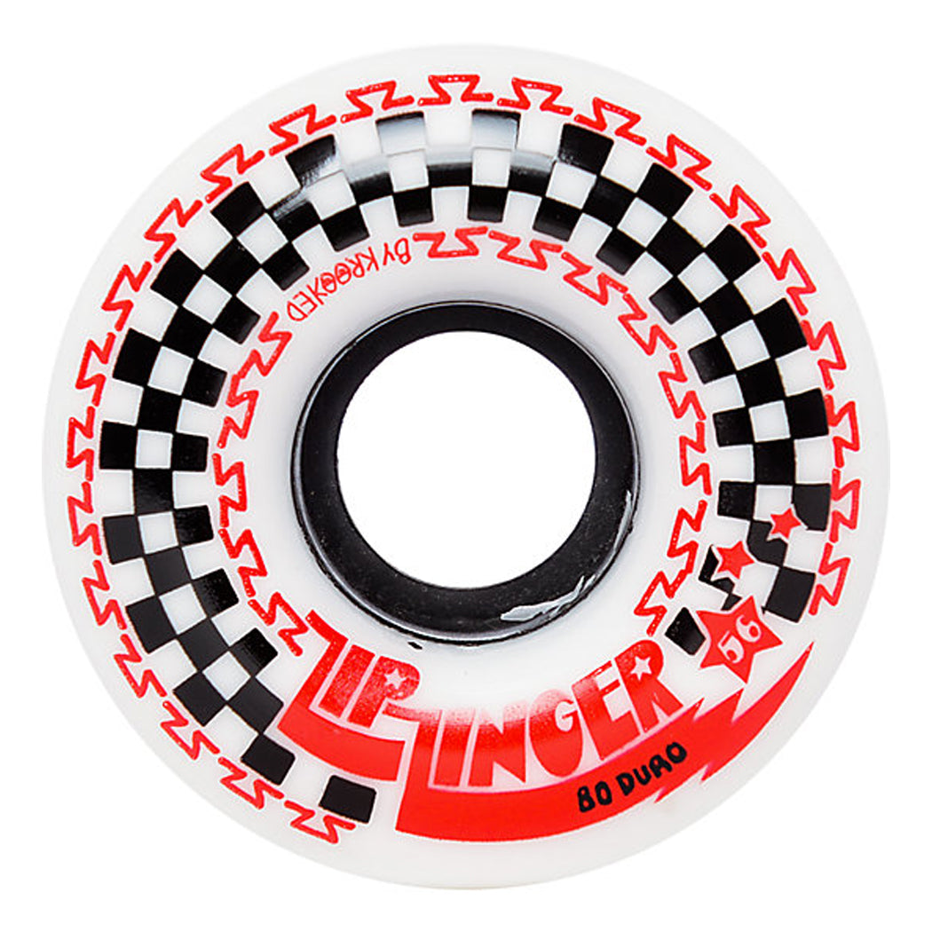 Krooked Zip Zinger Wheels White 80a - 56mm