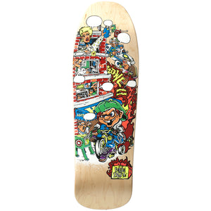 "New Deal Andy Howell Tricycle Kid Deck Natural - 9.625"" Screenprinted"