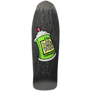 "New Deal Spray Can Deck Black - 9.75"" Screenprinted"