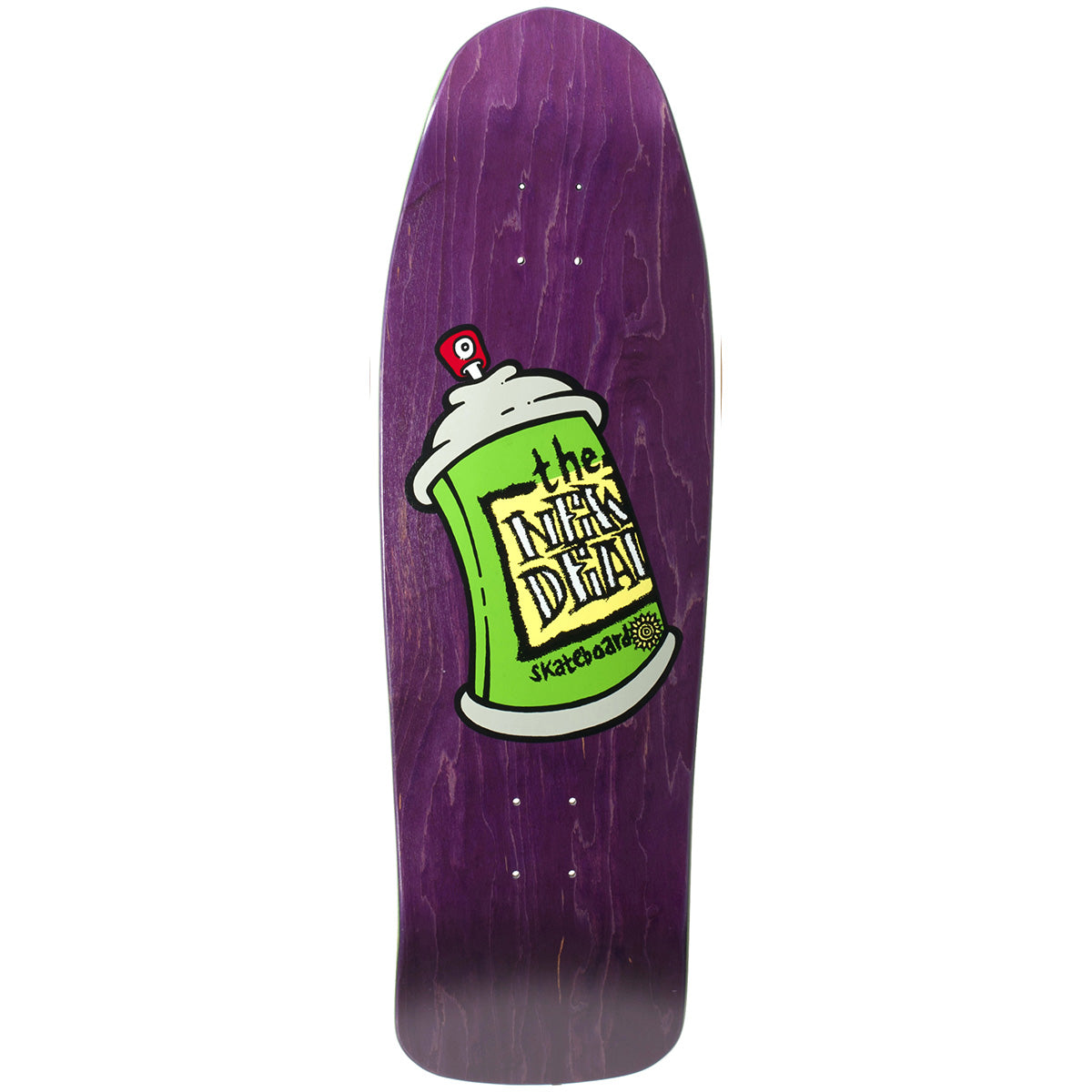 "New Deal Spray Can Deck Purple - 9.75"" Screenprinted"