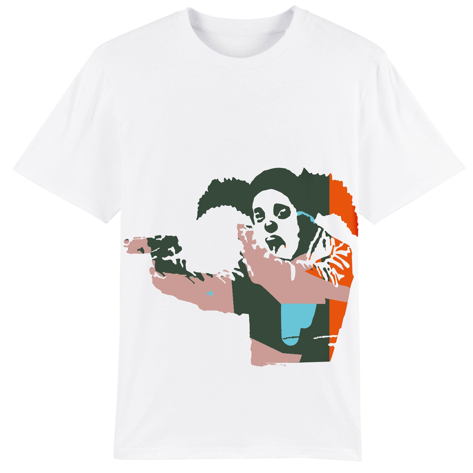 Clown Skateboards Owners T-shirt - White/Multi Colour