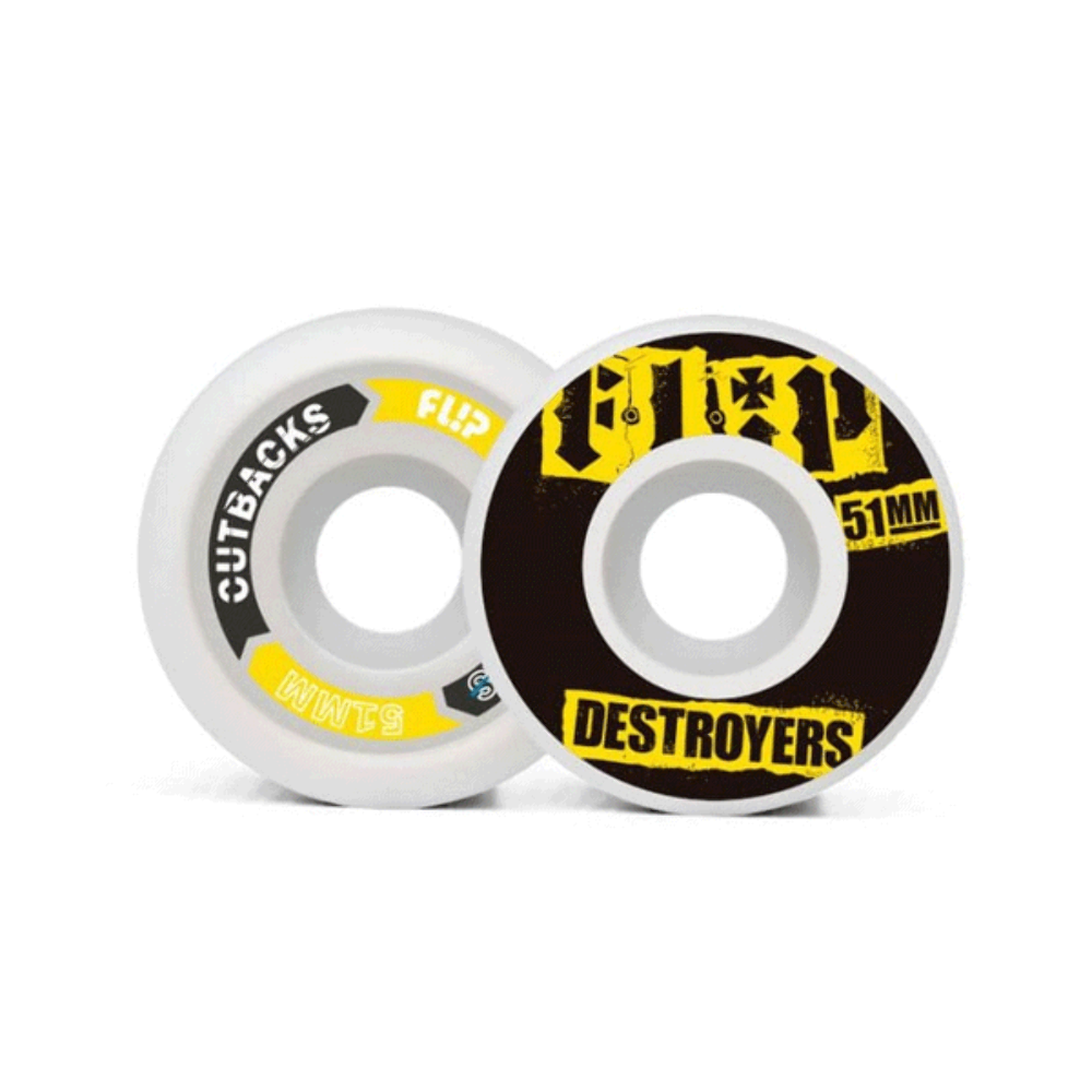 Flip Cutback Black Wheels - 51mm