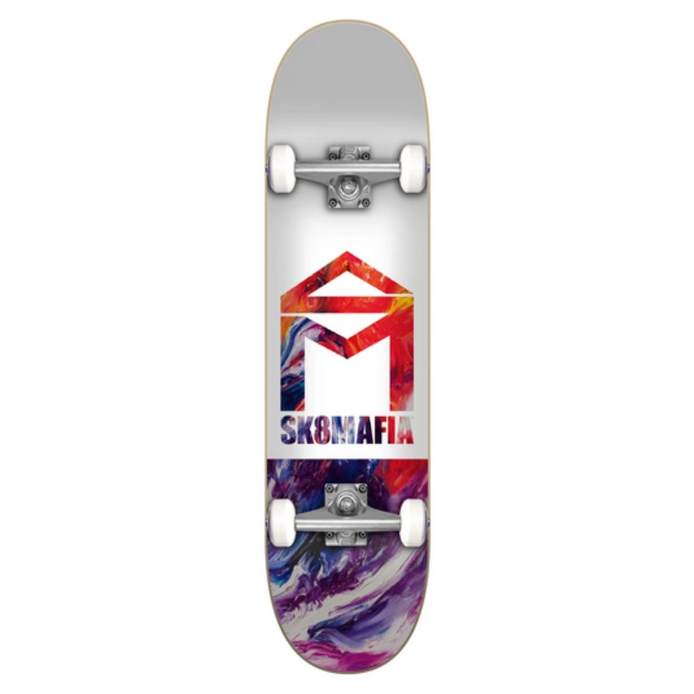 Sk8Mafia House Logo Low Oil Complete Skateboard - 7.5""